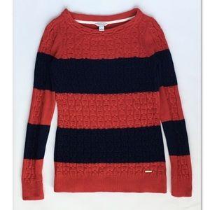 Nautica Red Striped Women's Sweater